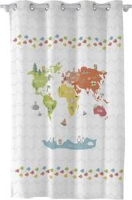 Draperie pentru copii Happynois World Map, 180 x 135 cm