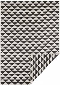Covor reversibil negru/crem din polipropilena Twin Supreme Tahiti Black Cream Bougari (diverse dimensiuni)