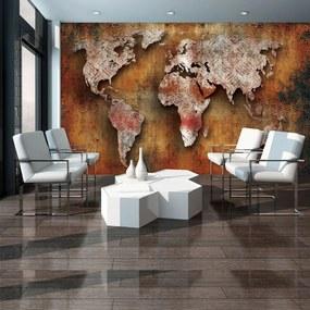 Fototapet - Harta lumii Rustică (152,5x104 cm), în 8 de alte dimensiuni noi