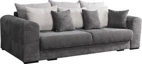 Canapea foarte spaţioasă, gri/gri deschis/bej, GILEN BIG SOFA