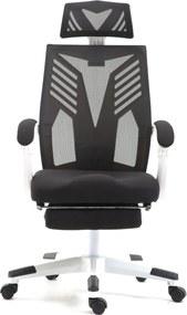 Scaun ergonomic, suport picioare, SIB 878W