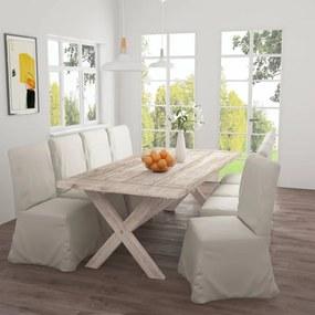 286169 vidaXL Masă de bucătărie, 220 x 100 x 75 cm, lemn masiv de tec