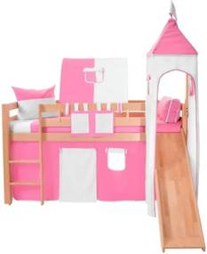 Set castel pentru copii Mobi furniture Luk a Tom, alb - roz