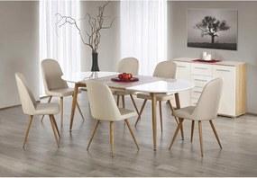 EDWARD masă extensibilă stejar auriu/alb
