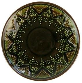 Farfurie din ceramica verde 13 cm