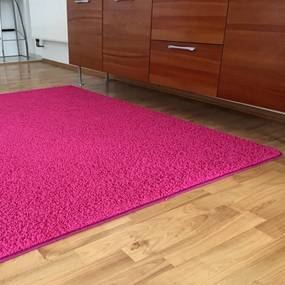 Covor SHAGGY roz 60 x 110 cm