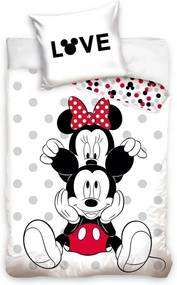 Set lenjerie pat copii Minnie Love 140x200 + 70x90 SunCity CBX208002MCK
