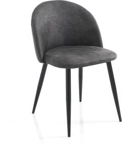 Set 4 scaune Tomasucci New Kelly, gri