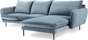 Colțar cu șezlong pe partea dreaptă Cosmopolitan Design Vienna, albastru deschis
