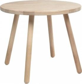 Masa pentru copii maro din lemn din arbore de cauciuc 55 cm Dilcia Kave Home