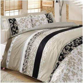 Lenjerie de pat pentru pat dublu cu cearșaf şi 2 feţe de pernă Deborah, 200 x 220 cm