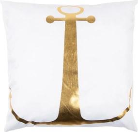 Pernuţă Gold De Lux Ancoră, alb, 43 x 43 cm
