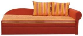 Coltar extensibil portocalie/cu model dungi dreapta AGA D