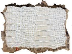 Fototapet un zid spart cu priveliște Piele de crocodil