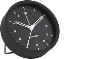 Ceas cu alarmă Karlsson Tinge, ø 9 cm, negru