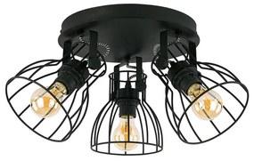 Lampa spot ALANO BLACK 3xE27/60W/230V