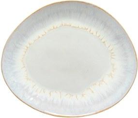 Farfurie ovală din gresie ceramică osta Nova Brisa, ⌀ 27 cm, alb