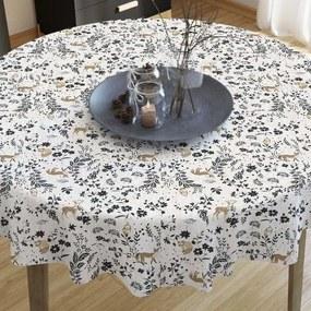 Goldea față de masă decorativă loneta - model 267 - rotundă Ø 70 cm