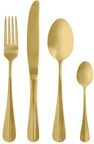 Set Tacamuri GOLD (set 4) - Inox Auriu Furculita Inaltime(21 cm) Cutit Inaltime(24cm) Lingura Inaltime(21cm) Lingurita Inaltime(14cm)