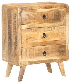 320456 vidaXL Servantă, 60 x 35 x 75 cm, lemn de mango nefinisat