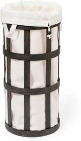 Coș de rufe Wireworks Cage, negru cu sac alb