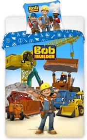 Lenjerie de pat pentru baieti Constructorul Bob multicolor 140x200 cm