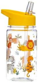 Sticlă apă cu pai pentru copii Sass & Belle Drink Up Safari, 400 ml