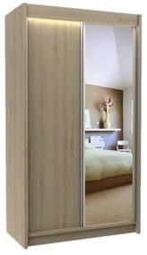 Expedo Dulap cu uși glisante și oglindă TARRA, sonoma, 120x216x61