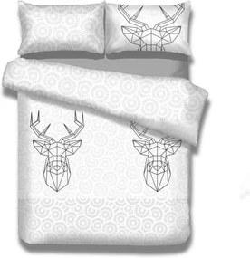 Lenjerie de pat din flanel AmeliaHome My Deer Friend, 140 x 200 cm