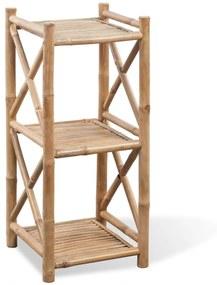 242491 vidaXL Raft pătrat cu 3 niveluri din bambus