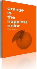 Tablou - Orange is the happiest color (Frank Sinatra) 50x70