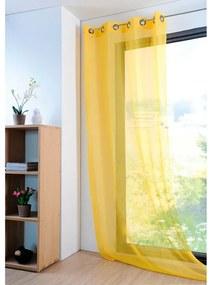 Perdea colorată MONNA galbenă, 135 x 260 cm set 2 buc
