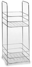 Etajera pentru baie metalica cu 2 polite, 16x16x40 cm