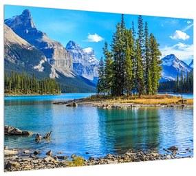 Tablou cu peisaj montan și râu (K014679K7050)