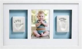 Pearhead - Kit rama foto simpla cu amprenta mulaj manuta si piciorus - alba