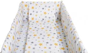 Aparatori laterale maxi pentru patut Yellow and grey stars white