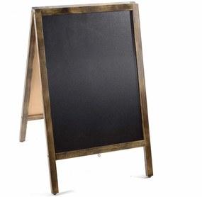 Tabla de scris cu suport din lemn maro patinat 50 cm x 5 cm x 82 h