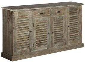 245508 vidaXL Servantă, lemn masiv de mindi, 145 x 32,5 x 77 cm