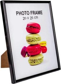 Rama foto de masa lemn neagra 20 cm x 25 cm