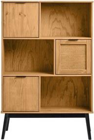 Bibliotecă din lemn de pin Marckeric Natasha