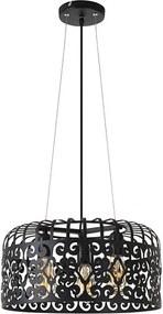 Rábalux 2158 Pendule moderne Alessandra negru mat metal E27 3x MAX 60W IP20
