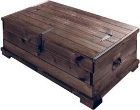 Cufăr din lemn de pin Støraa Valerie, 72 x 39 cm, maro închis