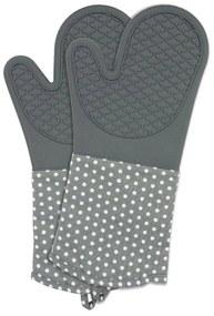 Set 2 mănuși din silicon bucătărie Wenko Oven Grey, gri