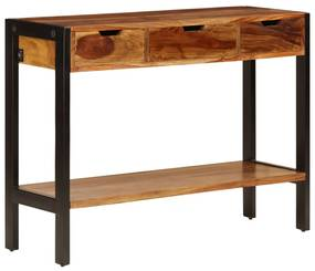 247407 vidaXL Servantă cu 3 sertare, 110x35x75 cm, lemn masiv de sheesham