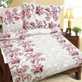 Lenjerie de pat Floare de trandafir, din crep, 140 x 200, 70 x 90 cm