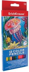 Creioane colorate hexagonale - 12 culori