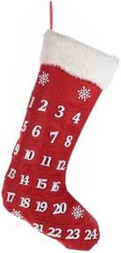 Calendar Advent Craciun model soseta rosu cm 28 x 50 H