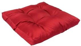Pernă pentru paleți, roșu, 58 x 58 x 10 cm, poliester