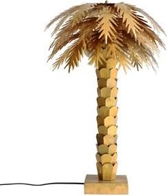 Veioza dimabila aurie din alama cu 2 becuri 68 cm Palm HK Living