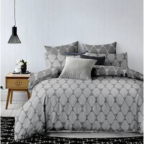 Lenjerie de pat pentru 1 persoană DecoKing Hypnosis Rhombuses, 135 x 200 cmm
